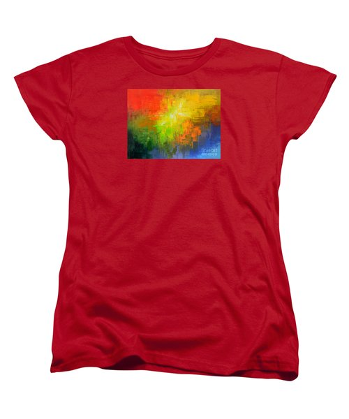 Women's T-Shirt (Standard Cut) featuring the painting Passionate Plumage by Tatiana Iliina