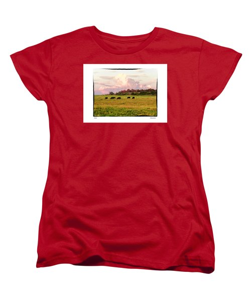 Women's T-Shirt (Standard Cut) featuring the photograph Pasture by R Thomas Berner