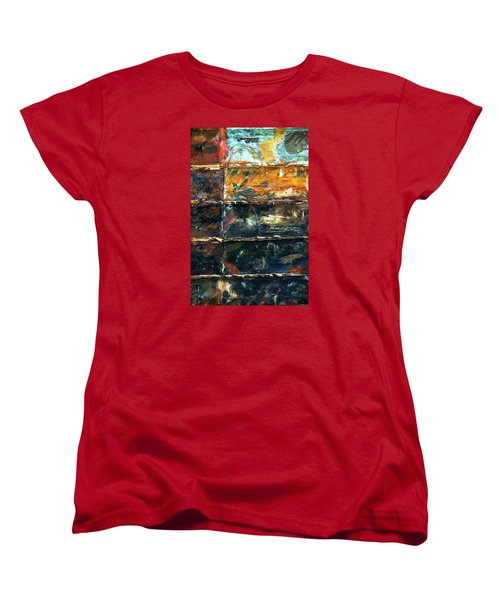 Women's T-Shirt (Standard Cut) featuring the photograph Patchworks 3 by Newel Hunter
