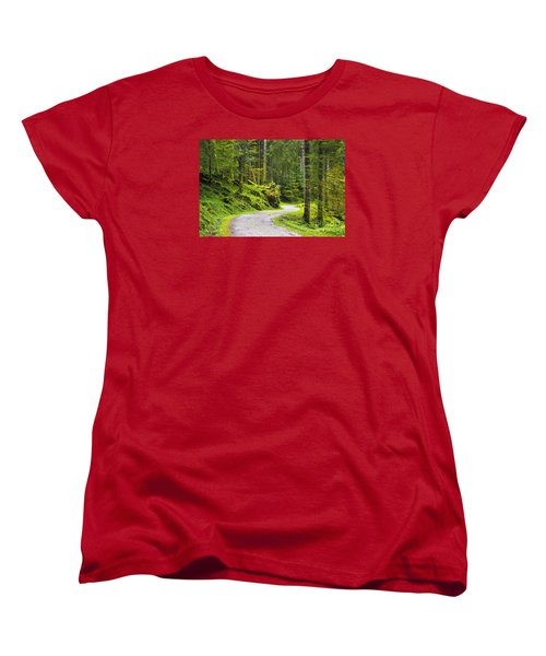 Women's T-Shirt (Standard Cut) featuring the photograph Path In The Forest by Yuri Santin