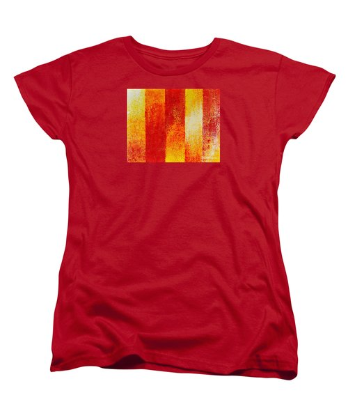 Women's T-Shirt (Standard Cut) featuring the painting Path by Teresa Wegrzyn