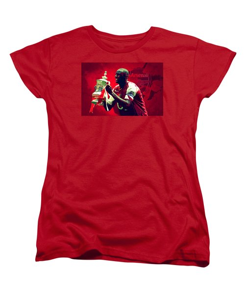 Patrick Vieira Women's T-Shirt (Standard Cut) by Semih Yurdabak