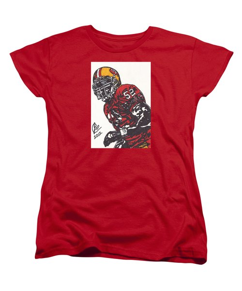 Patrick Willis Women's T-Shirt (Standard Cut) by Jeremiah Colley