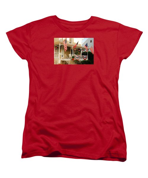 Women's T-Shirt (Standard Cut) featuring the photograph Patriotic Home by James Kirkikis