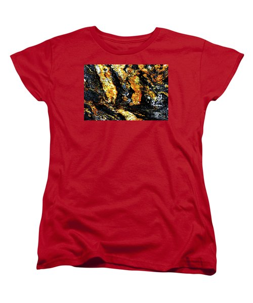 Women's T-Shirt (Standard Cut) featuring the photograph Patterns In Stone - 185 by Paul W Faust - Impressions of Light