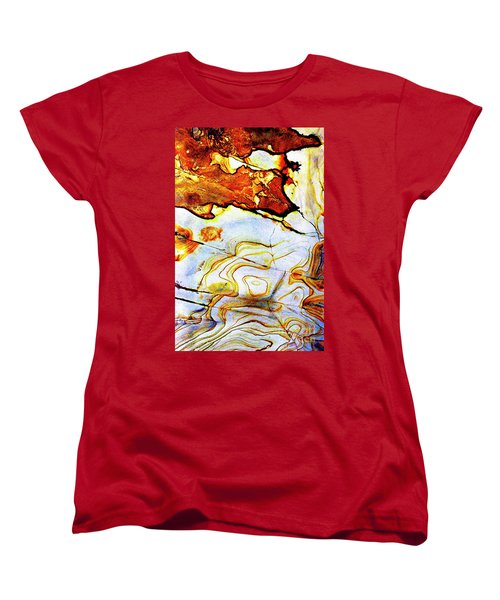 Women's T-Shirt (Standard Cut) featuring the photograph Patterns In Stone - 201 by Paul W Faust - Impressions of Light