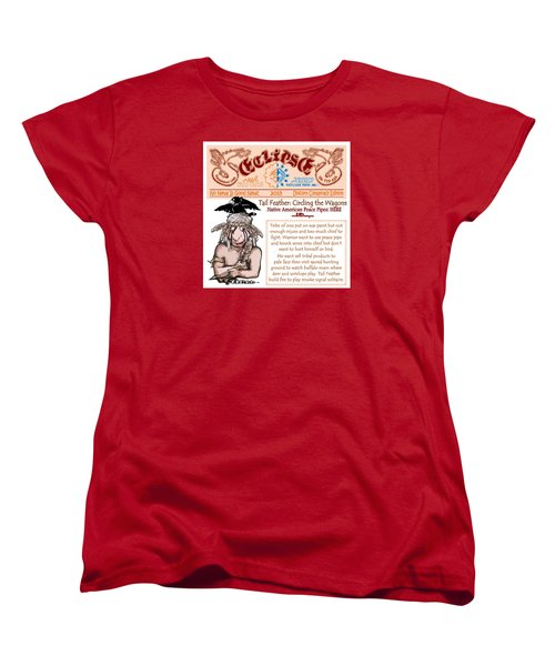 Women's T-Shirt (Standard Cut) featuring the drawing Real Fake News Circling The Wagons 2 by Dawn Sperry