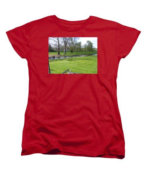 Peaceful Women's T-Shirt (Standard Cut) by Adam Cornelison