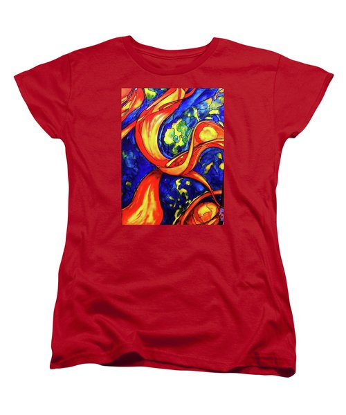 Women's T-Shirt (Standard Cut) featuring the painting Peaceful Coexistence by Rae Chichilnitsky
