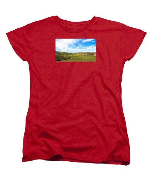 Peaceful Women's T-Shirt (Standard Cut) by Hyuntae Kim