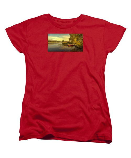 Women's T-Shirt (Standard Cut) featuring the photograph Peaceful Morning by Rose-Maries Pictures