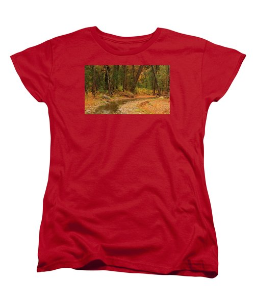 Women's T-Shirt (Standard Cut) featuring the photograph Peaceful Stream by Roena King