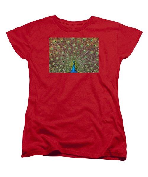 Peacock Fanfare Women's T-Shirt (Standard Cut) by Diane Alexander