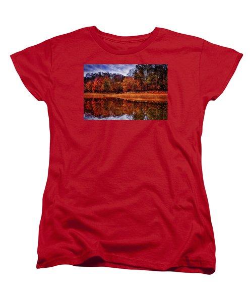 Women's T-Shirt (Standard Cut) featuring the photograph Peak? Nope, Not Yet by Edward Kreis
