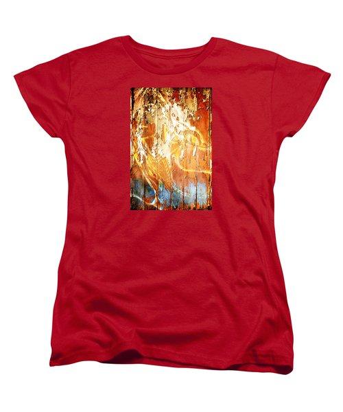 Peeling Wall Portrait Women's T-Shirt (Standard Cut) by Andrea Barbieri