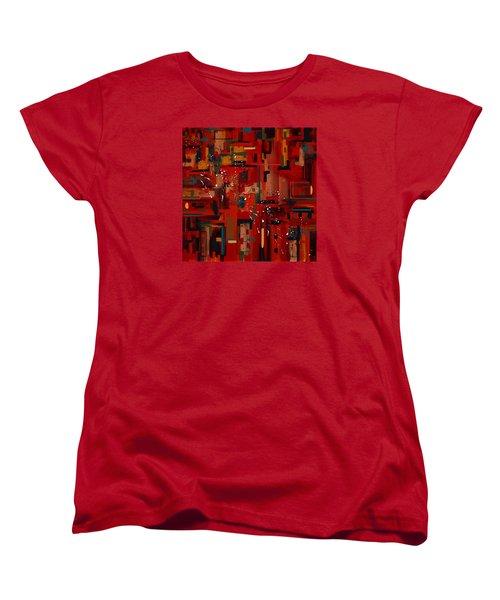 Women's T-Shirt (Standard Cut) featuring the painting Penman Original-233 by Andrew Penman