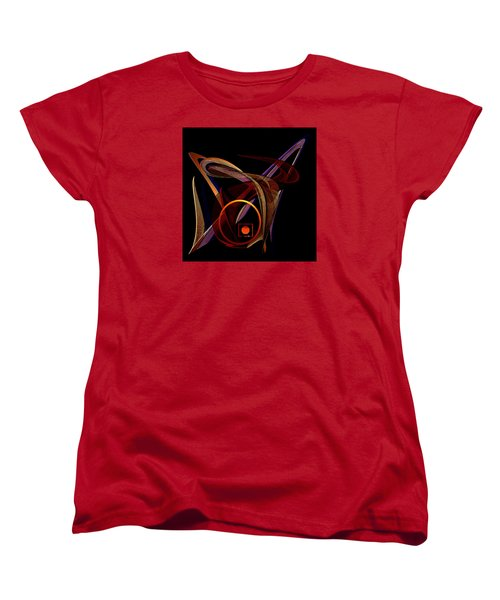 Women's T-Shirt (Standard Cut) featuring the painting Penman Original- 248-sunlight Within A Tangled Manic Mind by Andrew Penman