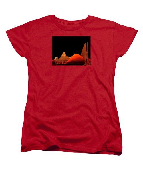 Women's T-Shirt (Standard Cut) featuring the digital art Penman Original-294-refuge by Andrew Penman
