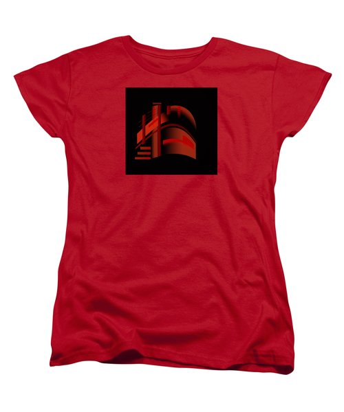 Women's T-Shirt (Standard Cut) featuring the painting Penman Original-313 From A Crowded Room by Andrew Penman