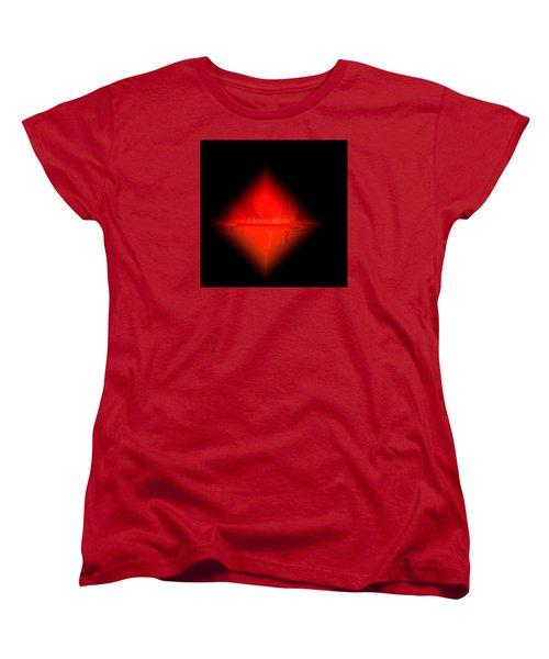 Women's T-Shirt (Standard Cut) featuring the painting Penman Original - Pillow Talk by Andrew Penman