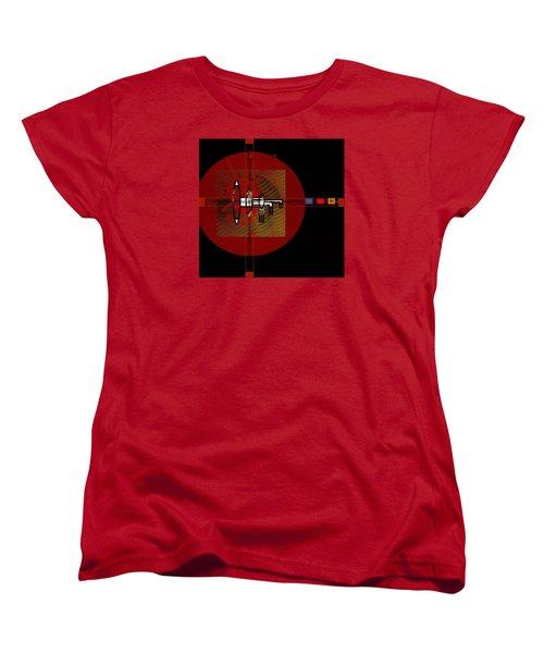 Women's T-Shirt (Standard Cut) featuring the painting Penmanorigina-260 by Andrew Penman