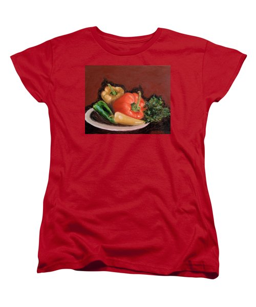 Peppers And Parsley Women's T-Shirt (Standard Cut) by Jamie Frier