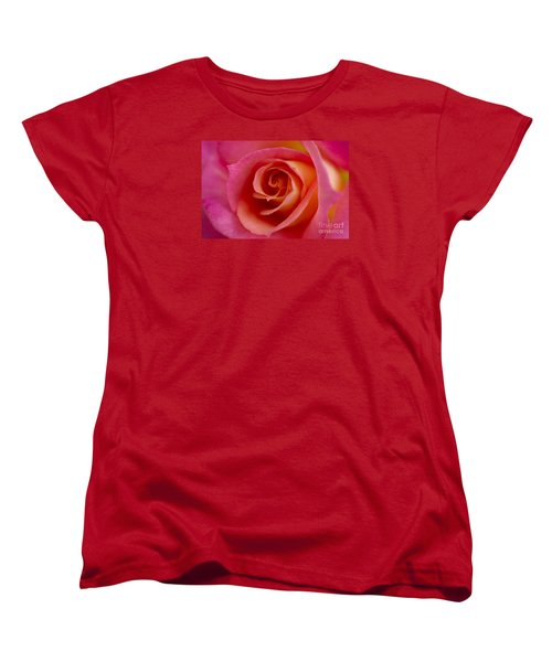 Women's T-Shirt (Standard Cut) featuring the photograph Perfect Moment Rose by Jeanette French