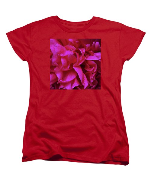 Perfectly Pink Peony Petals Women's T-Shirt (Standard Cut)