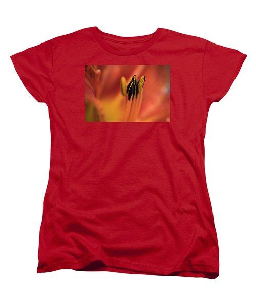 Persimmon Lilly Women's T-Shirt (Standard Cut) by Deborah Scannell