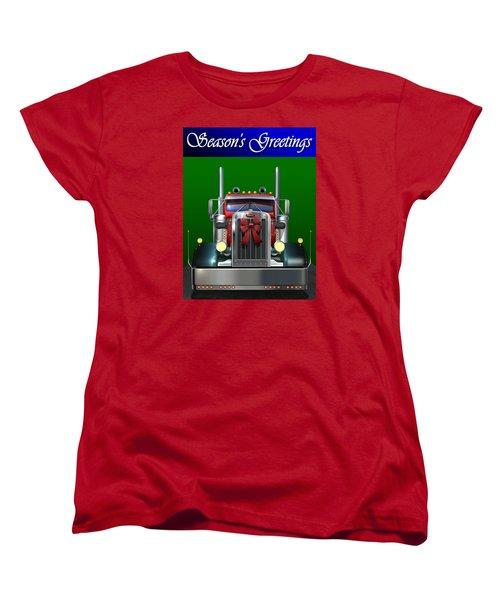 Pete Season's Greetings Women's T-Shirt (Standard Cut) by Stuart Swartz
