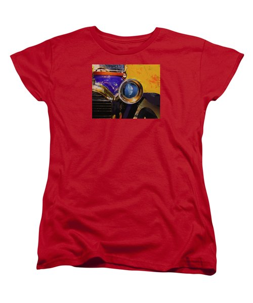 Women's T-Shirt (Standard Cut) featuring the photograph Peugeot Cabriolet 1913 by Walter Fahmy