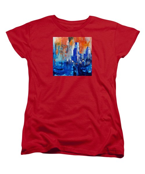 Philadelphia Skyline 227 1 Women's T-Shirt (Standard Cut) by Mawra Tahreem
