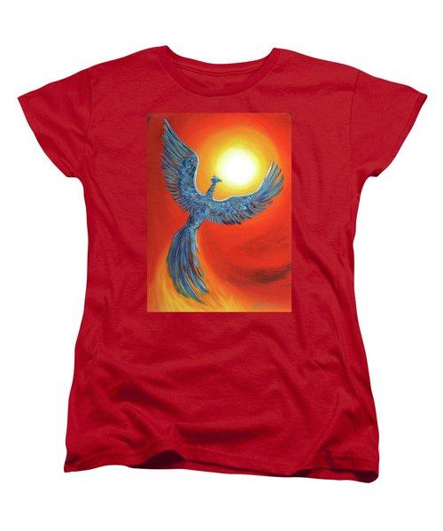 Phoenix Rising Women's T-Shirt (Standard Cut) by Laura Iverson