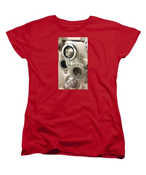 Phoropter Women's T-Shirt (Standard Cut) by Keith Hawley
