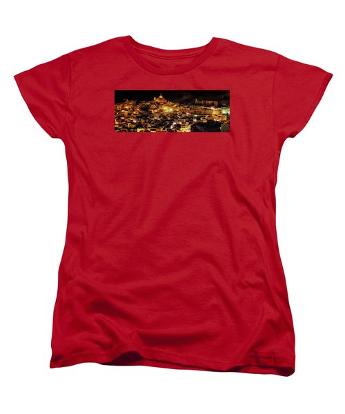 Piazza Armerina At Night Women's T-Shirt (Standard Cut)