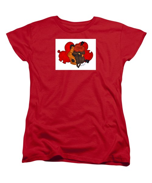 Picking Up The Pieces Women's T-Shirt (Standard Cut) by Diamin Nicole