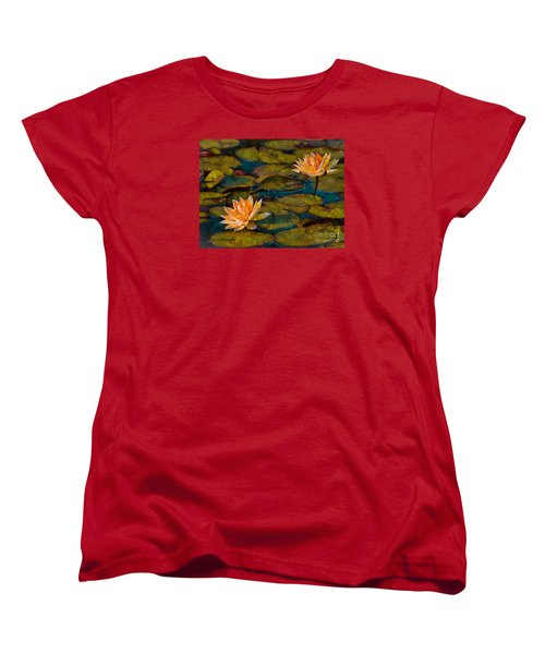 Picnic By The Pond Women's T-Shirt (Standard Cut) by John  Kolenberg