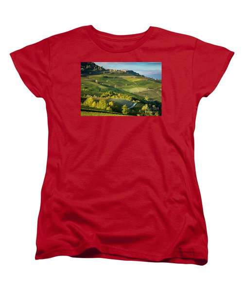 Women's T-Shirt (Standard Cut) featuring the photograph Piemonte Countryside by Brian Jannsen