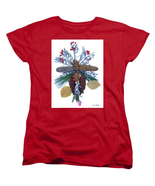 Pine Cone Bouquet Women's T-Shirt (Standard Cut) by Lise Winne