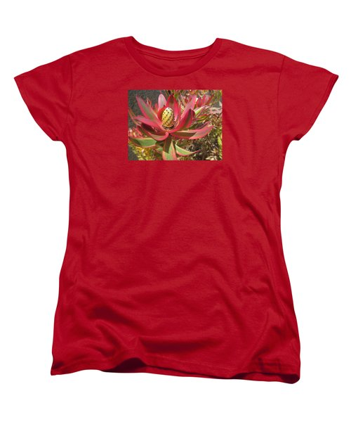 Pineapple King Flower Women's T-Shirt (Standard Cut) by Tina M Wenger