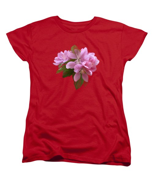Pink Blossoms Women's T-Shirt (Standard Cut) by Ivana Westin