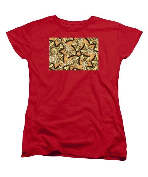 Women's T-Shirt (Standard Cut) featuring the photograph Pink Granite Abstract by Peter J Sucy