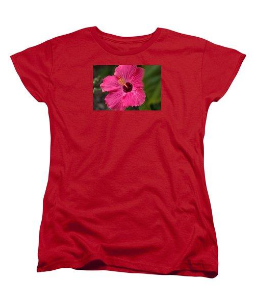 Pink Hibiscus Women's T-Shirt (Standard Cut) by Dorothy Cunningham