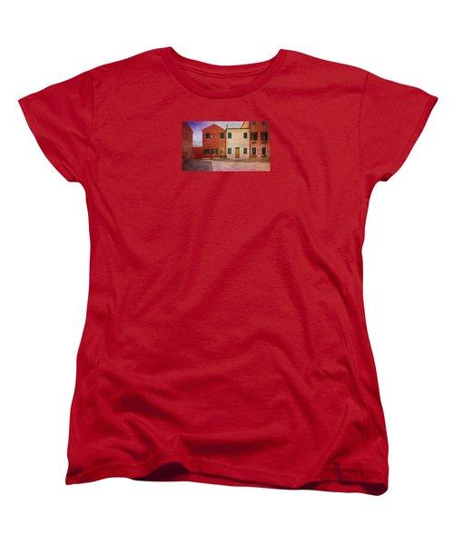 Women's T-Shirt (Standard Cut) featuring the photograph Pink Houses by Anne Kotan