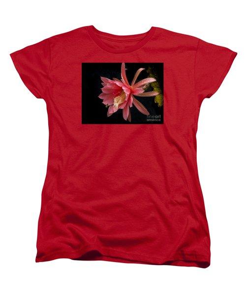 Pink Orchid Cactus Flower Women's T-Shirt (Standard Cut)