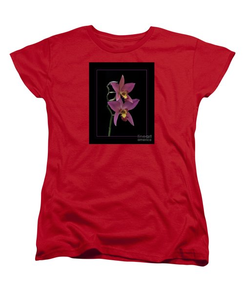 Pink Orchids Women's T-Shirt (Standard Cut) by Darleen Stry