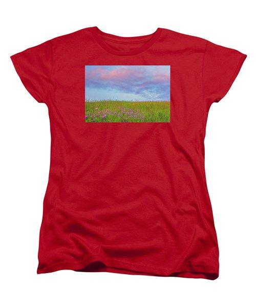 Pink  Over Pink  Women's T-Shirt (Standard Cut) by Marc Crumpler