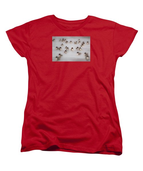 Pintail Repeat  Women's T-Shirt (Standard Cut) by Kelly Marquardt