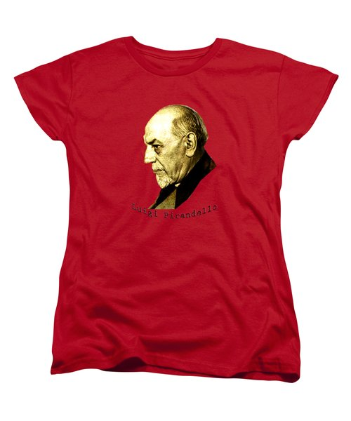 Women's T-Shirt (Standard Cut) featuring the digital art Pirandello by Asok Mukhopadhyay