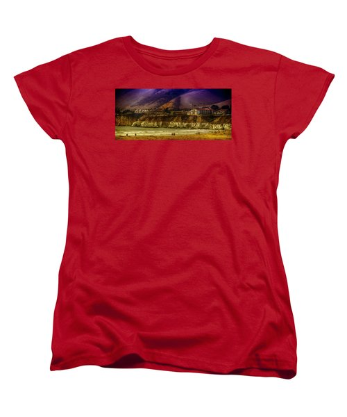 Pismo Beach Cove Women's T-Shirt (Standard Cut) by Joseph Hollingsworth
